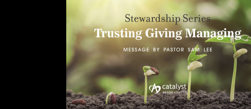 Sermon: Stewardship Series – Trust